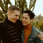Gay Couple engagement session at San Diego Botanical Garden